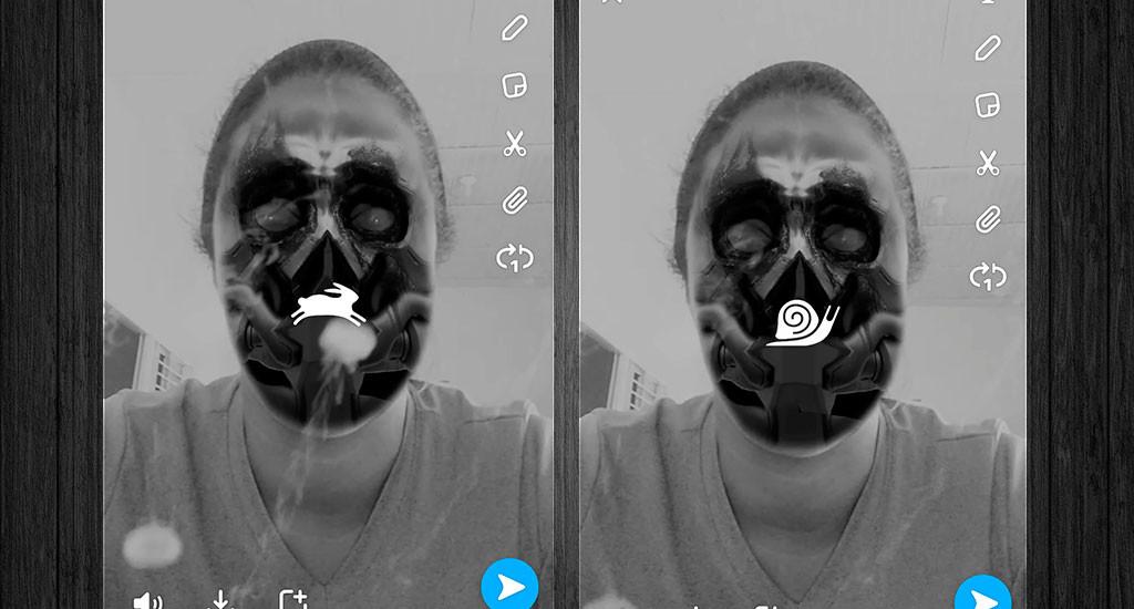 Voz ardilla Snapchat