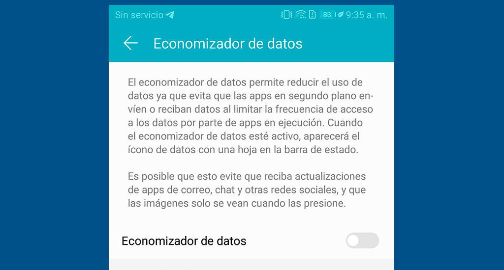 Economizador de datos