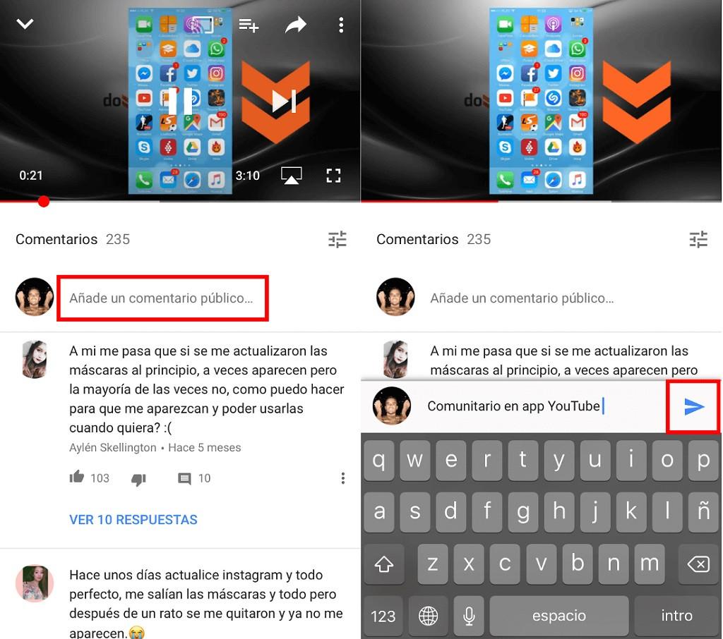 Cómo ver y Hacer Comentarios en la app de Youtube | Android o iOS