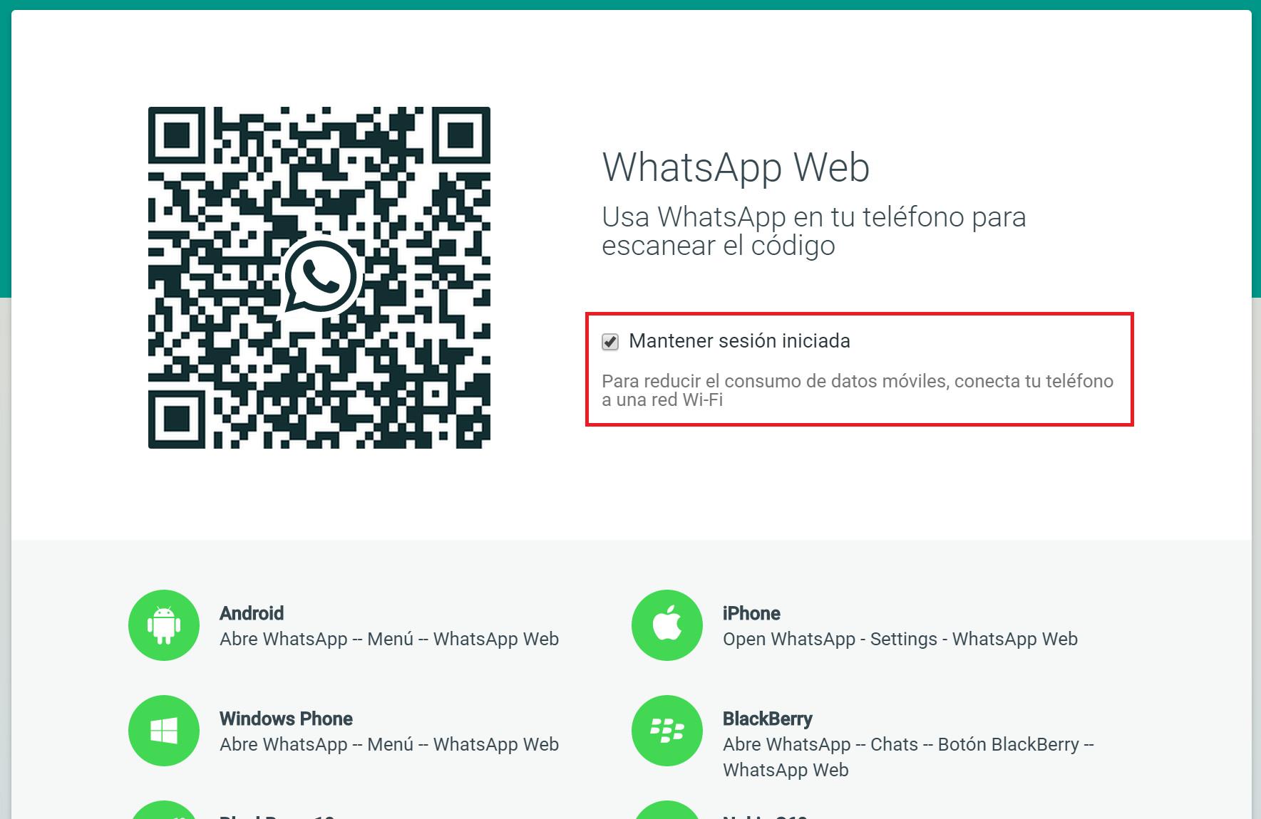 Como digitalizar o código QR do WhatsApp Web com a câmera frontal