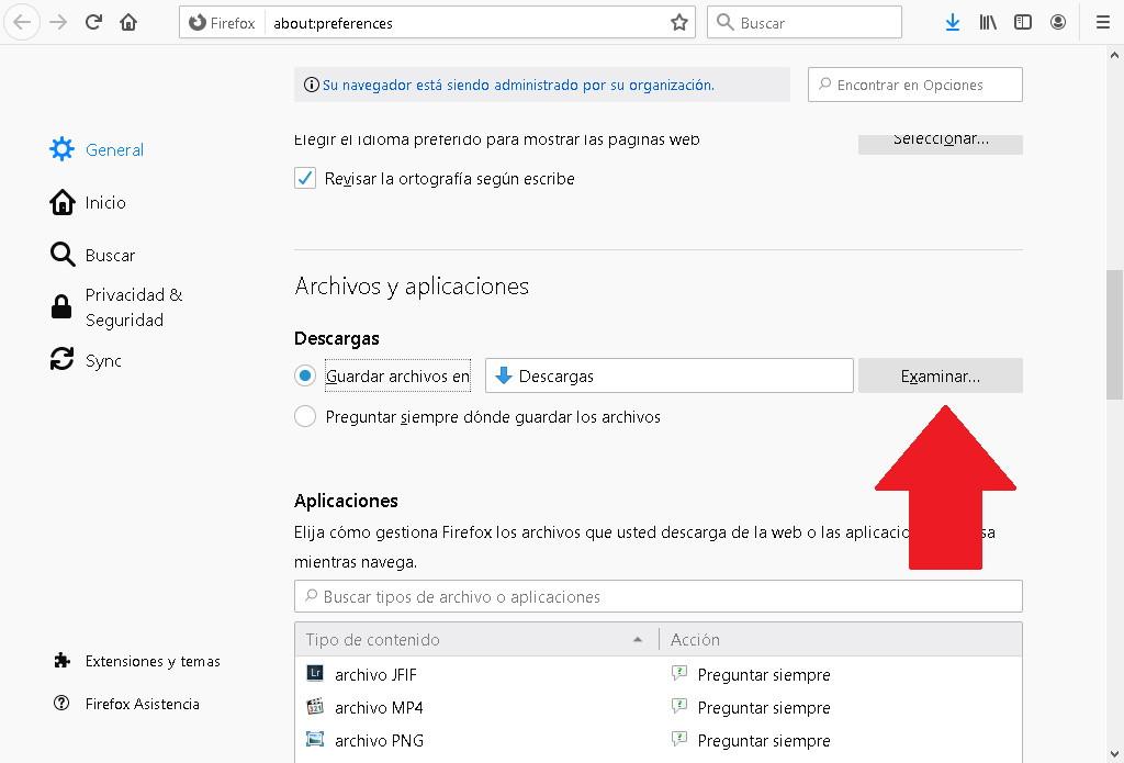 Cómo cambiar la carpeta donde se descargan los archivos de Mozilla Firefox