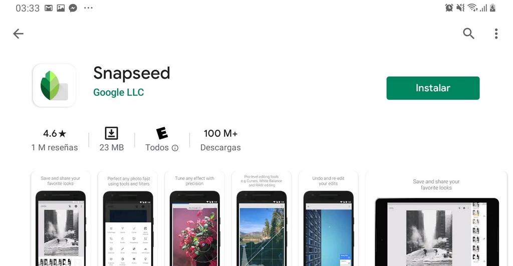 Cómo Editar fotos para Instagram usando la App Snapseed