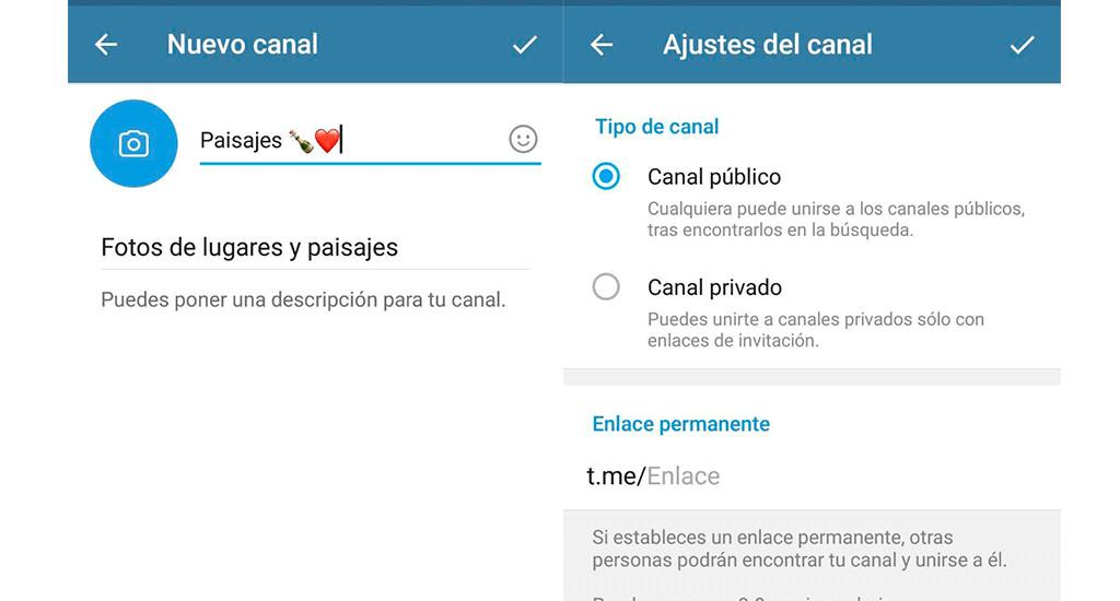 Usar la nube de Telegram