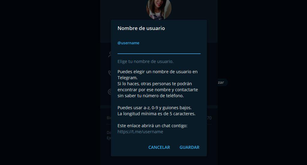 Crear Alias o usuario Telegram