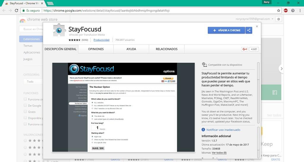 Cómo bloquear páginas web en Google Chrome a determinadas horas del día
