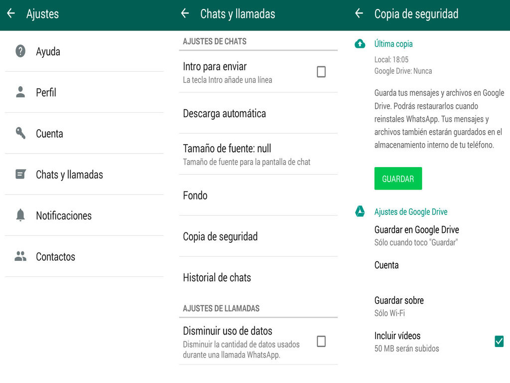 Cómo hacer una copia de seguridad de los chats de WhatsApp en Google Drive