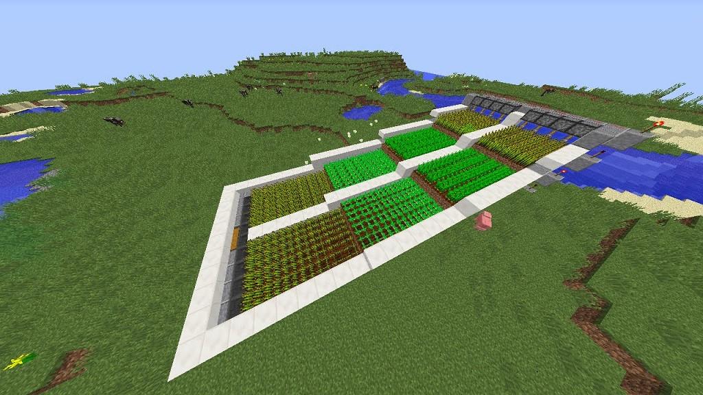 ¿Cómo hacer un huerto automático en Minecraft? - Cultivos automáticos