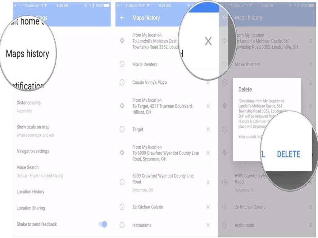 ¿Cómo limpiar o borrar el historial y la caché de Google Maps en iPhone?