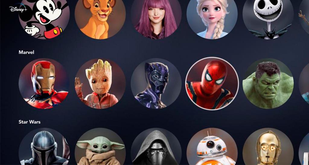 perfiles de Disney