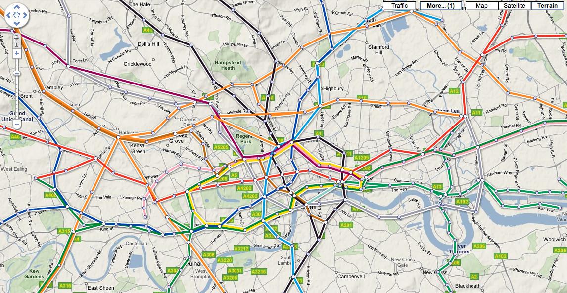linea en el mapa 2