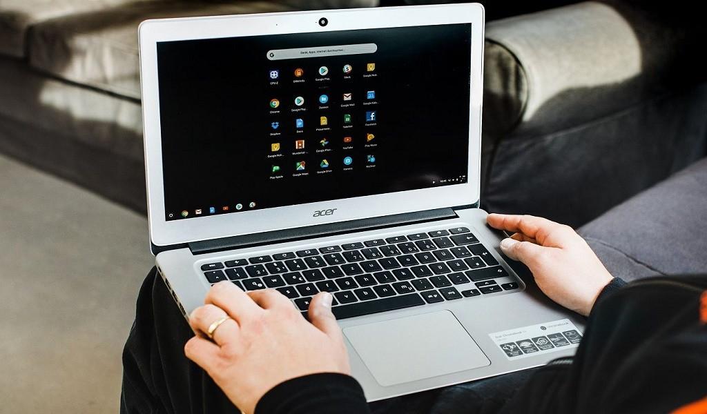 instalar usar linux chromebook