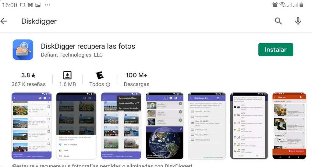 Cómo recuperar videos y archivos borrados en Android usando Diskdigger