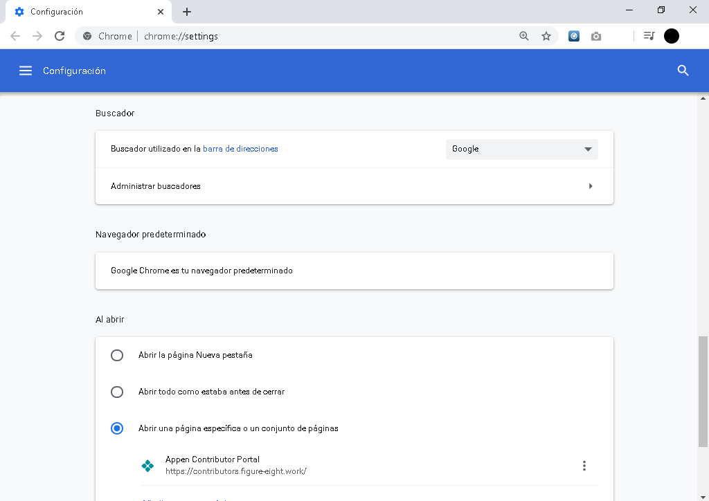 como cambiar el motor de busqueda en el navegador Opera o Chrome