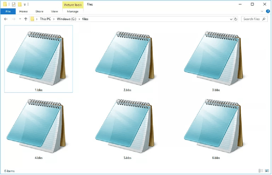 archivo con extension BBS