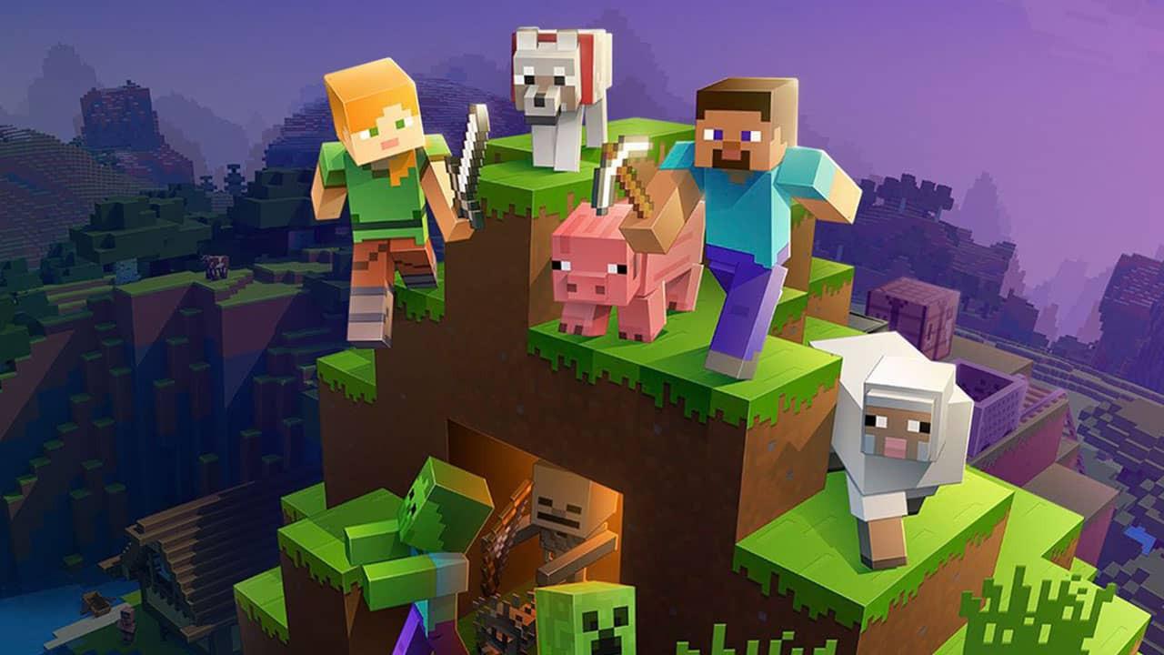 Minecraft de noche