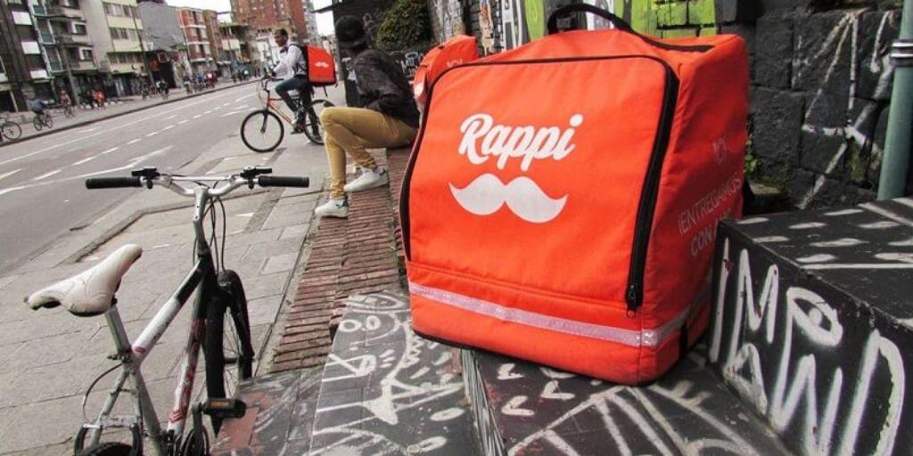 bicicleta y bolso de Rappi
