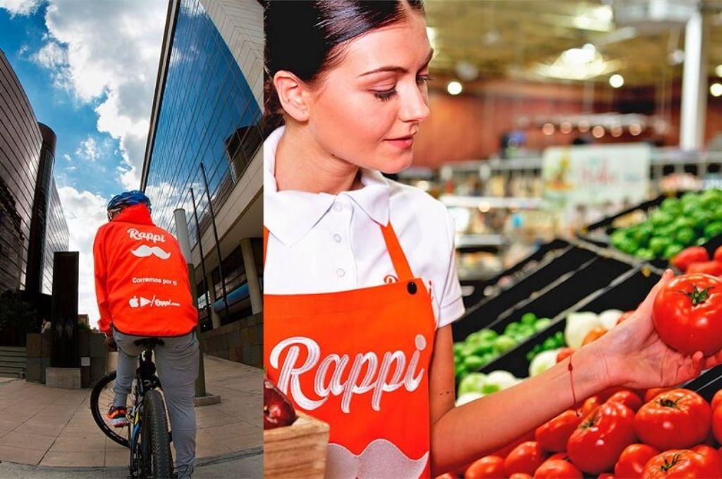 distintos trabajadores de Rappi
