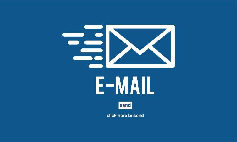 email correo electronico fondo azul