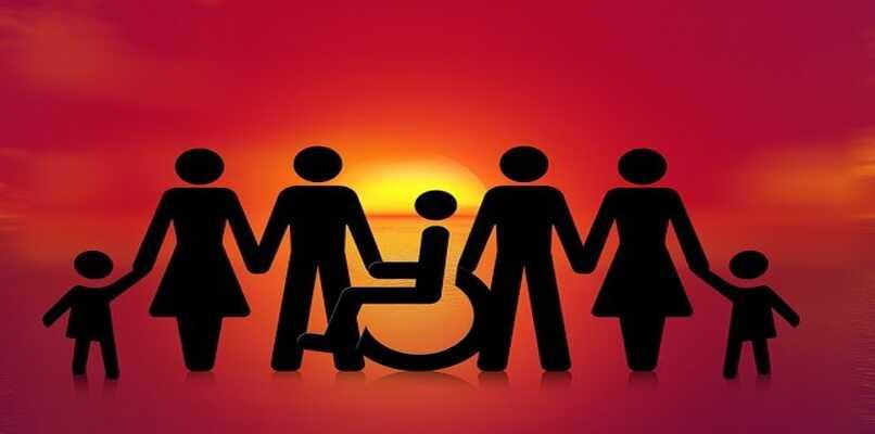persona con discapacidad y personas