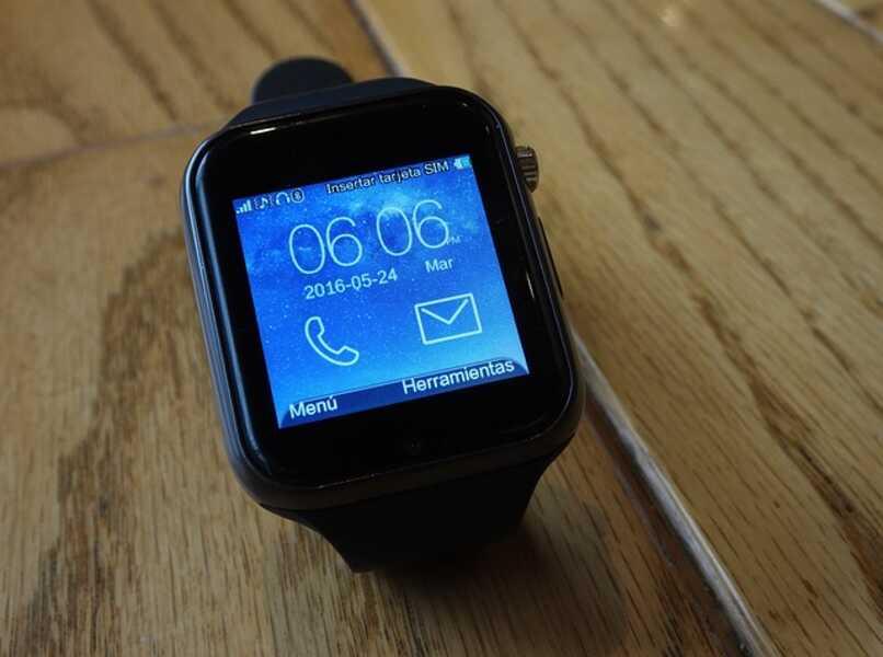 pantalla inicial al encender smartwatch