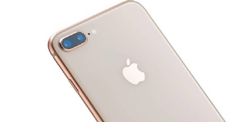 movil iphone en el que vemos su parte trasera camaras y logotipo oficial apple