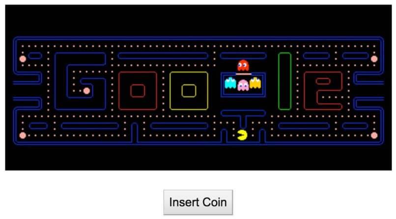 doodle pac man en google