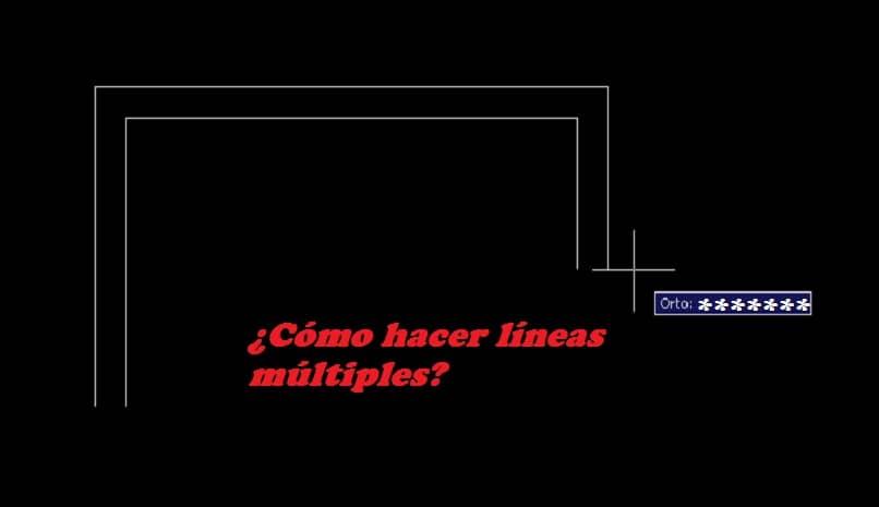 lineas multiples con  autocad