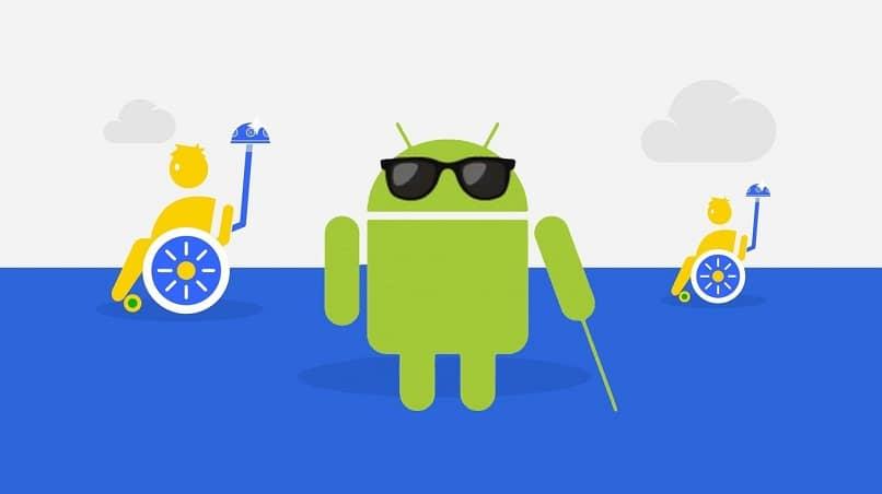logo de android ciego