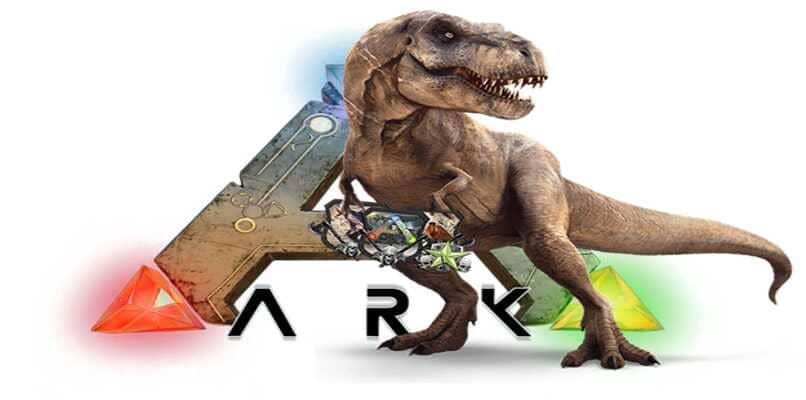 tiranosaurio y logo ark