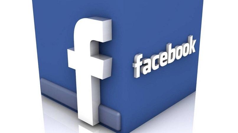 logo de facebook en 3d
