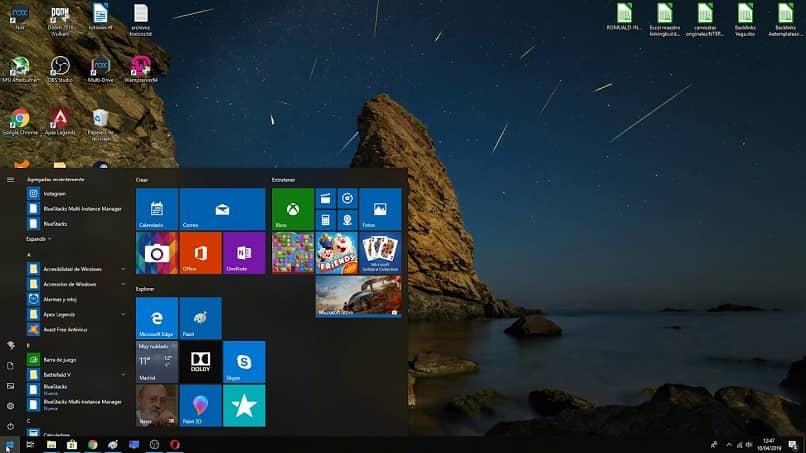 windows aplicaciones menu inicio