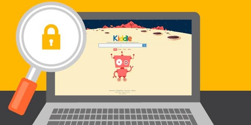 navegador web ninos kiddle pc