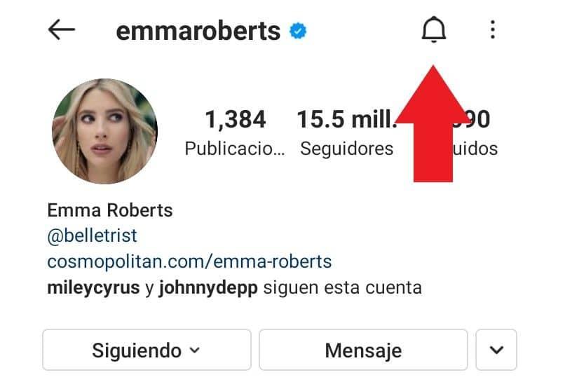 notificaciones otra persona instagram