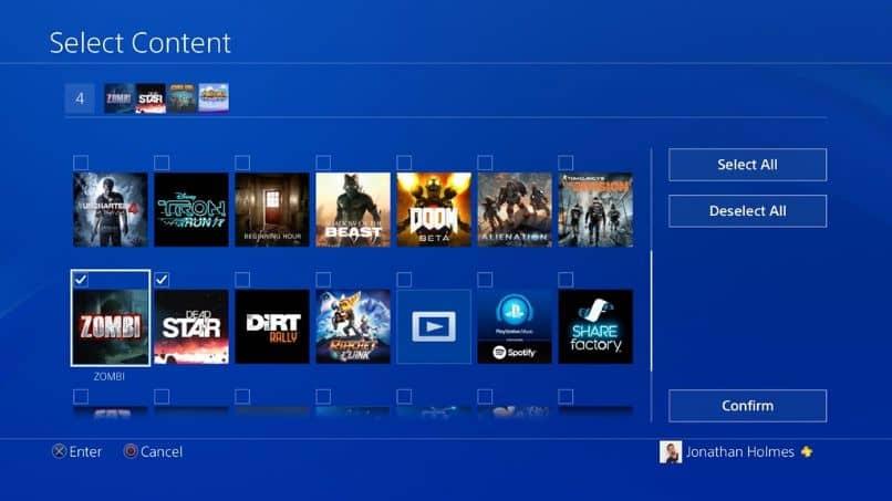presentacion menu juegos descargados