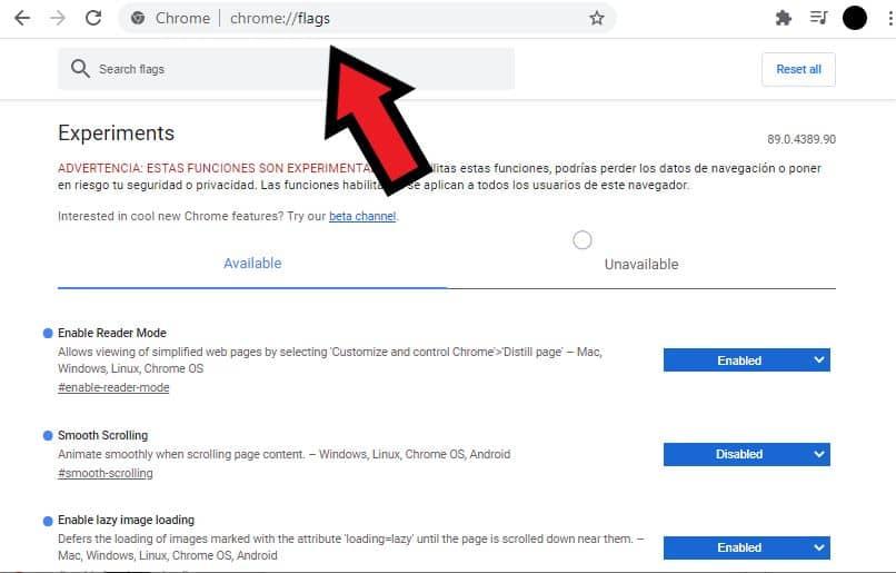activar paginas ocultas google chrome