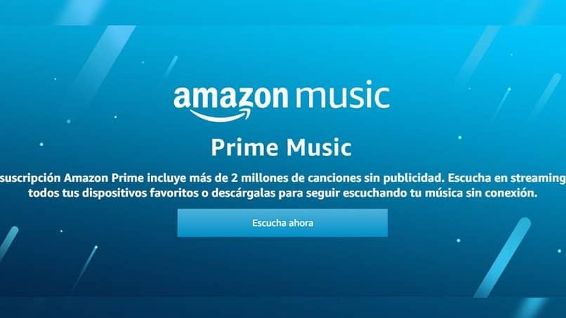pantalla de suscripcion en amazon prime music