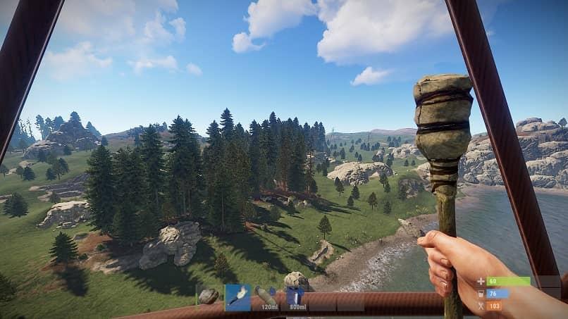 jugador rust supervivencia