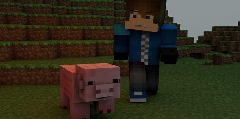 jugador y animal minecraft