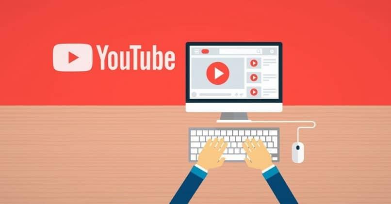 persona usando la plataforma de youtube