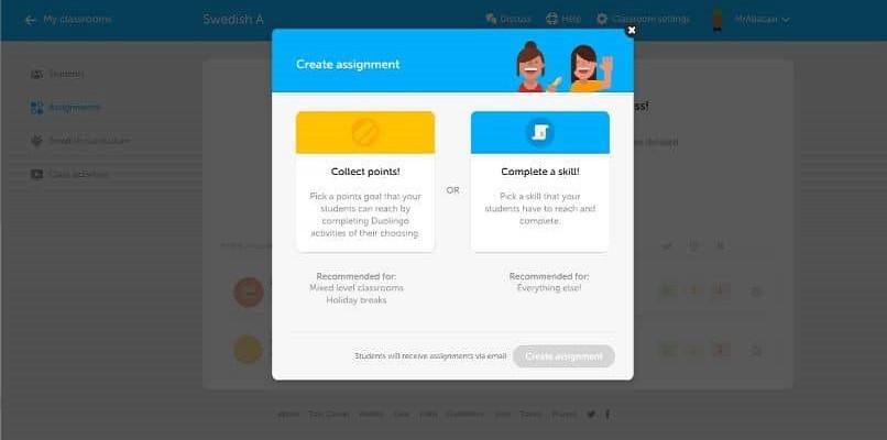 web de duolingo para escuelas