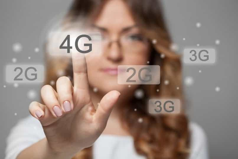 smart mobile phone with 4g technology in a few steps