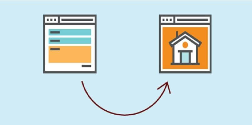 mostrando dos pantallas y redirecciones web