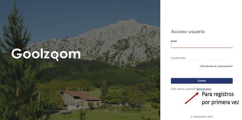 registro pagina web goolzoom