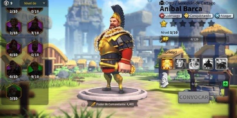 rise of kingdoms comandante anibal barca