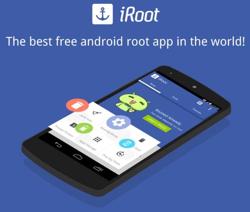 descargar activar app iroot android