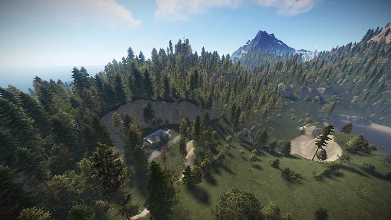 rust juego mapa