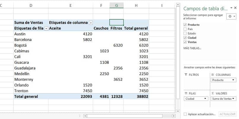 segmentacion de datos en excel