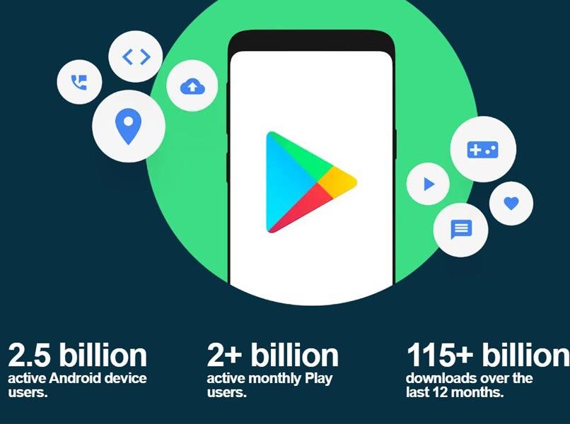 cantidad de descargas en google play