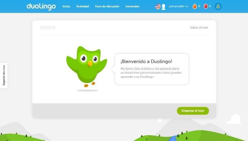 web oficial sitio duolingo