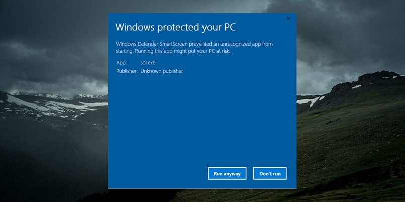 ventana smartscreen windows